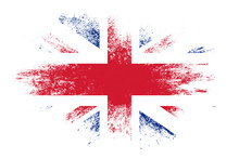 Flag Of Great Britain With Te...