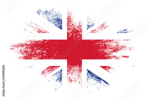 Fotografie, Obraz flag of great britain with texture. template for design