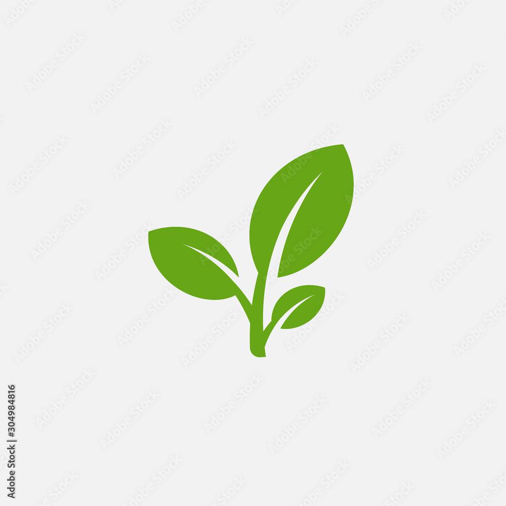 Fototapeta Green leaf ecology nature element vector icon, Leaf Icon, green leaf ecology nature element vector