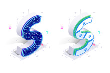 Letters S With Social Networks Elements