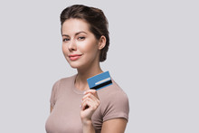 Young Woman Holding Credit Car...
