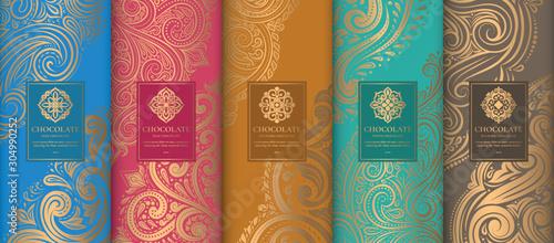 Leinwand Poster  Luxury packaging design of chocolate bars