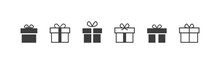 Gift Box Icon In Line Style. Vector Illustration