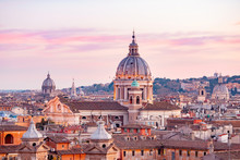 View Of Sunset City Rome From ...