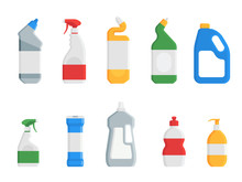 House Cleaning Products. Set O...
