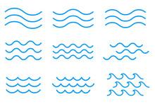 線による波のアイコン...