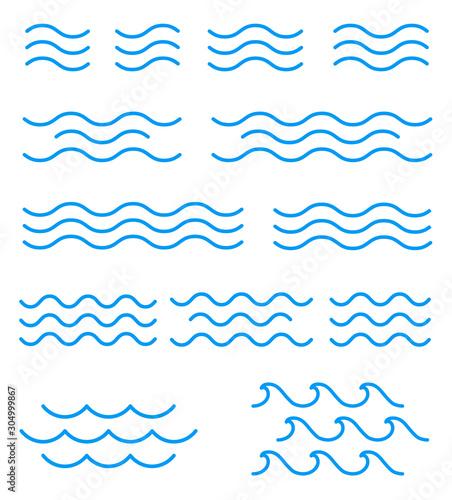 Платно  線による波のアイコンセット