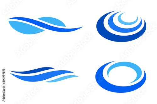 水や波のイメージ デザインセット Tapéta, Fotótapéta