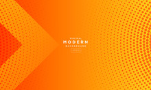 Abstract Minimal Orange Background, Simple Background With Halftone