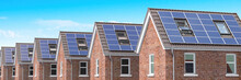 Row Of House With Solar Panels...