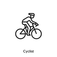 Cyclist Icon Vector. Cyclist Icon Vector Symbol Illustration. Modern Simple Vector Icon For Your Design. Cyclist Icon Vector
