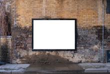 Billboard Blank On Brick Wall ...