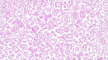 Purple Cartoon Hand Drawn Hipp...