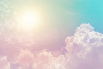 sunny cloud sky fantasy colorful pastel color for background