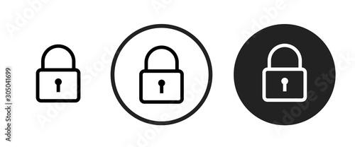Fototapeta lock icon . web icon set .vector illustration obraz