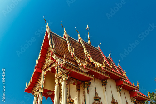 temple has a beautiful blue background.
