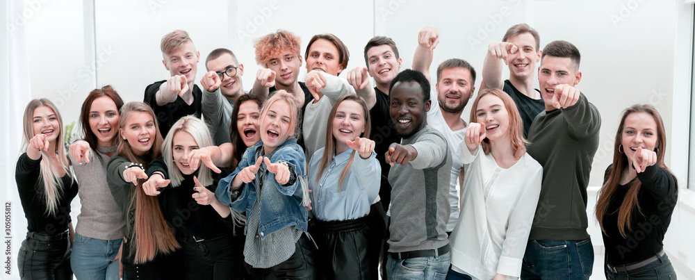 Fototapeta group happy young people who made their choice