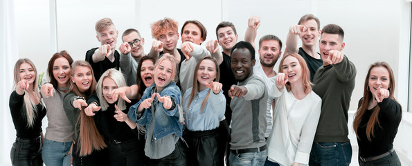group happy young people who made their choice