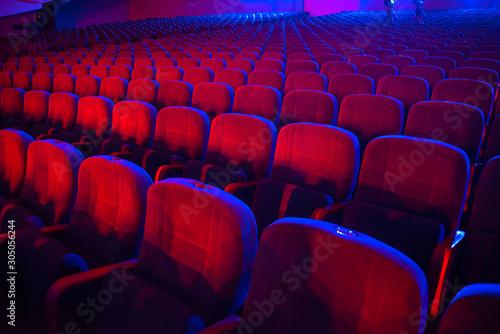Photo empty auditorium with seats