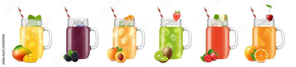 Smooth Cocktail Jars Set