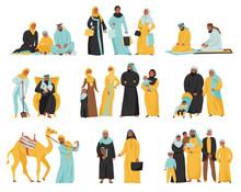 Arabs Family Icon Set