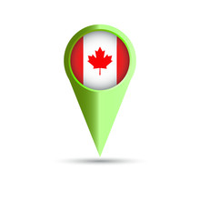 Canadian Location Map. Vector ...