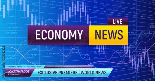 Carta da parati Economy News Screen Background