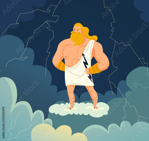 Carta da parati Greek God Illustration