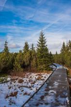 Snowy Path In Jezerní Slať -...