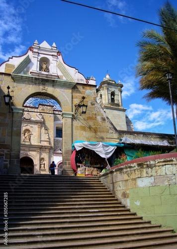 Escaleras al templo de la soledad oaxaca Wallpaper Mural