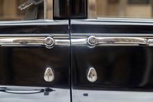 Luxury Classic Black Car Detail