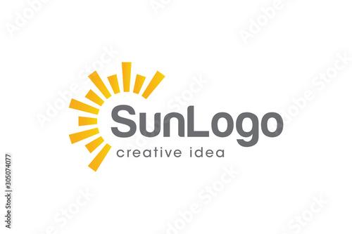 Creative Sun Concept Logo Design Template