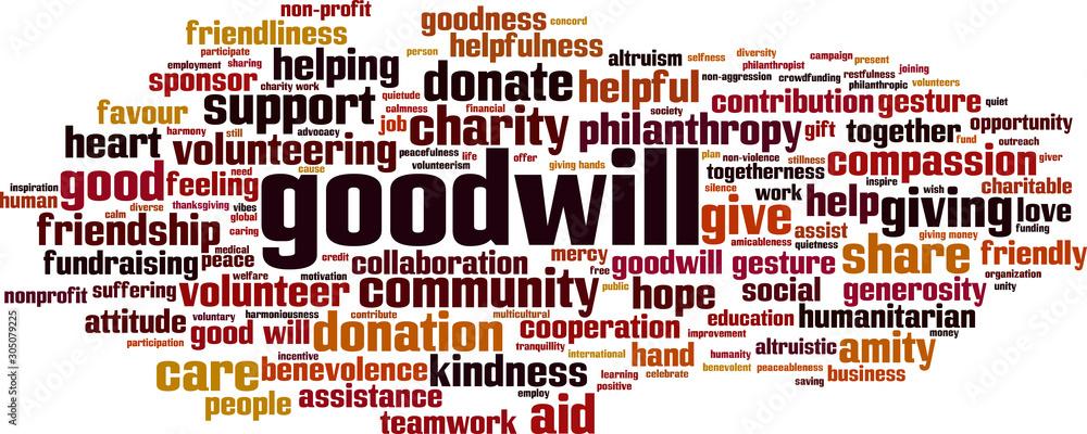 Fototapeta Goodwill word cloud