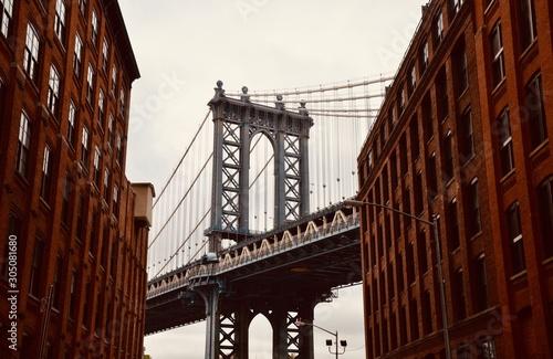 Photo Manhattan street view after a snowstorm, New York City, USA.