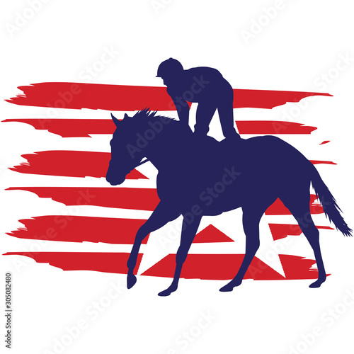 Fototapeta Horse Racing flag, American Flag, Fourth of July, 4th of July, Patriotic, Cricut