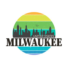 Milwaukee City Logo In Colorfu...