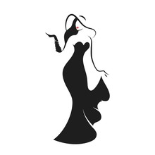 Woman In The Ball Gown Black