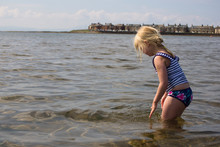 Young Girl In The Water Off A ...