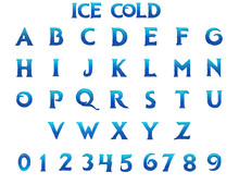 Ice Cold Alphabet - 3D Illustration