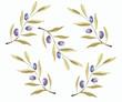 Łodyga oliwki, rustykalne tło