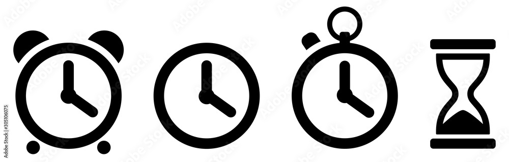 Fototapeta Time icons set. Clock icon. Vector