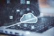 Leinwandbild Motiv Cloud computing diagram