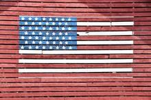 U.S. Flag On Barn