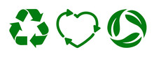 Set Recycle Icon Sign – Stoc...