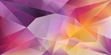 Abstract Crystal Background With Refracting Light And Highlights In Purple And Yellow Colors