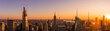 canvas print picture - Amazing panorama view of New York city skyscraper during sunset. Stunning view in Manhattan