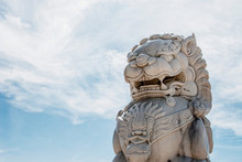 Foo Dog Statue In The Mojave D...