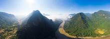 Aerial Panoramic Nam Ou River ...