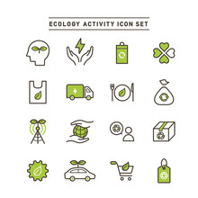ECOLOGY ACTIVITY ICON SET