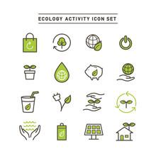 ECOLOGY ACTIVITY ICON SET
